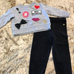 Kate Spade New York Sweatshirt and Leggings Set